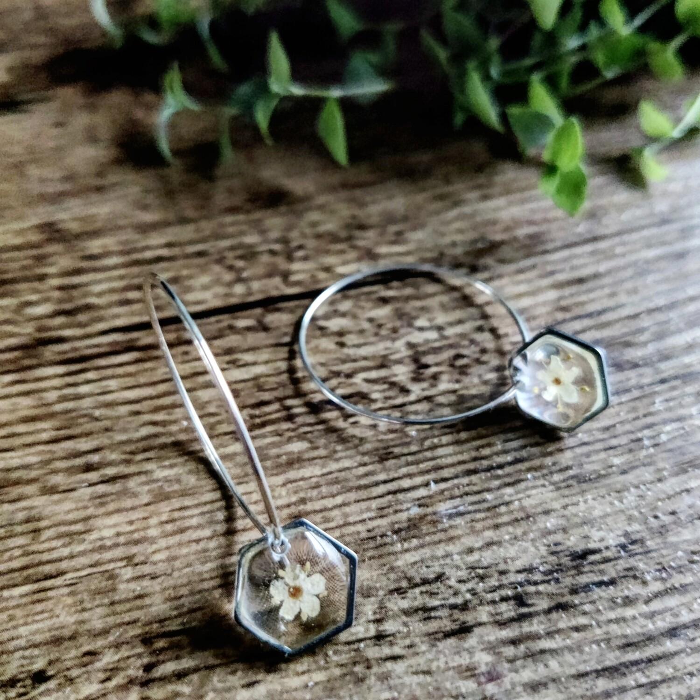 Elderflower: oorringen zilver