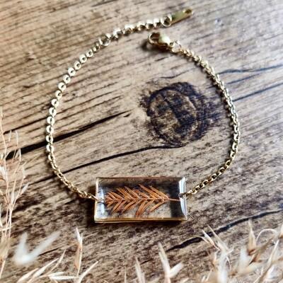 FORREST: armbandje rechthoekig goud