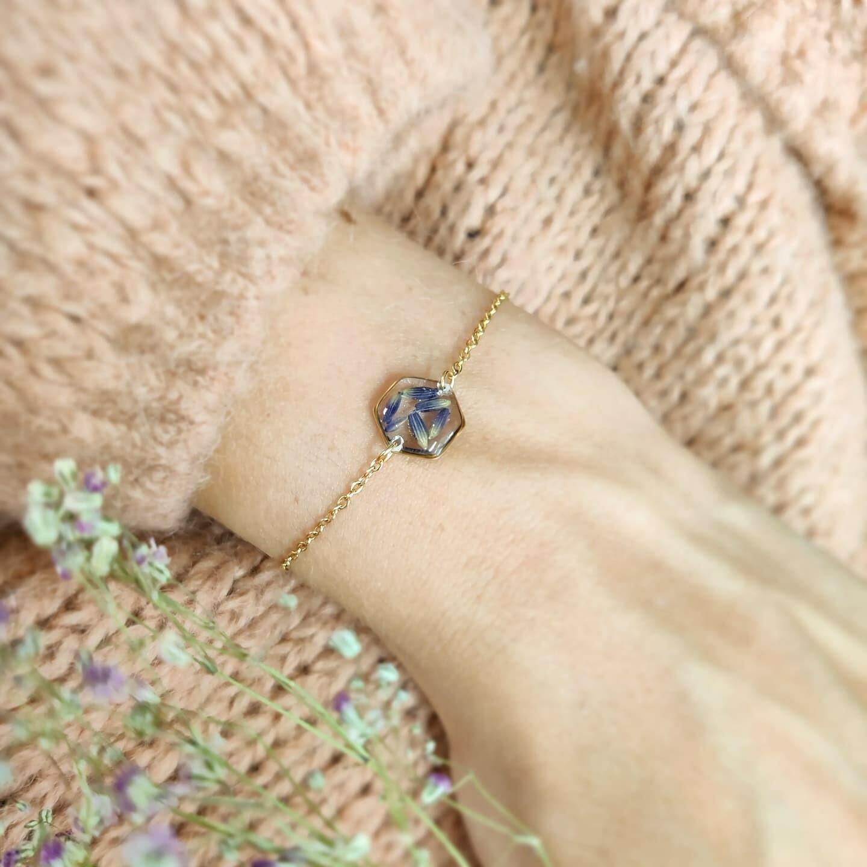 Lavendel: armbandje goud
