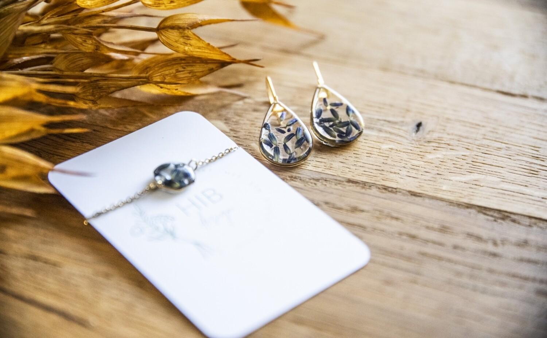 Lavendel: drops oorbellen