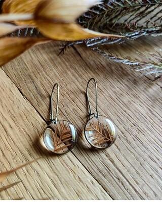 FORREST: oorbellen brons