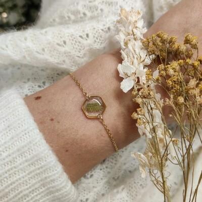 LEAVES: armbandje goud hex