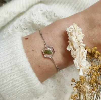 LEAVES: Armbandje zilver hex