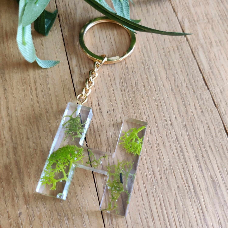 Sleutelhanger groen: H