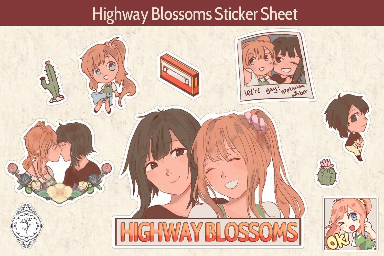 Highway Blossoms Desert Sticker Sheet (PRE-ORDER)