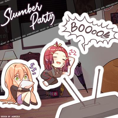 Slumber Party Kiss Cut Sticker Sheet