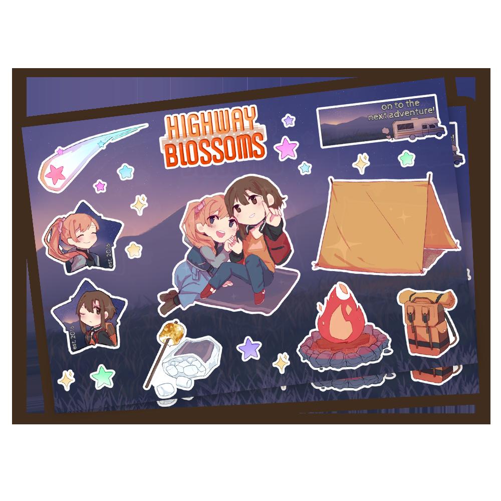 Highway Blossoms Stargazing Kiss Cut Sticker Sheet [PRE-ORDER]
