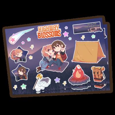 Highway Blossoms Stargazing Kiss Cut Sticker Sheet