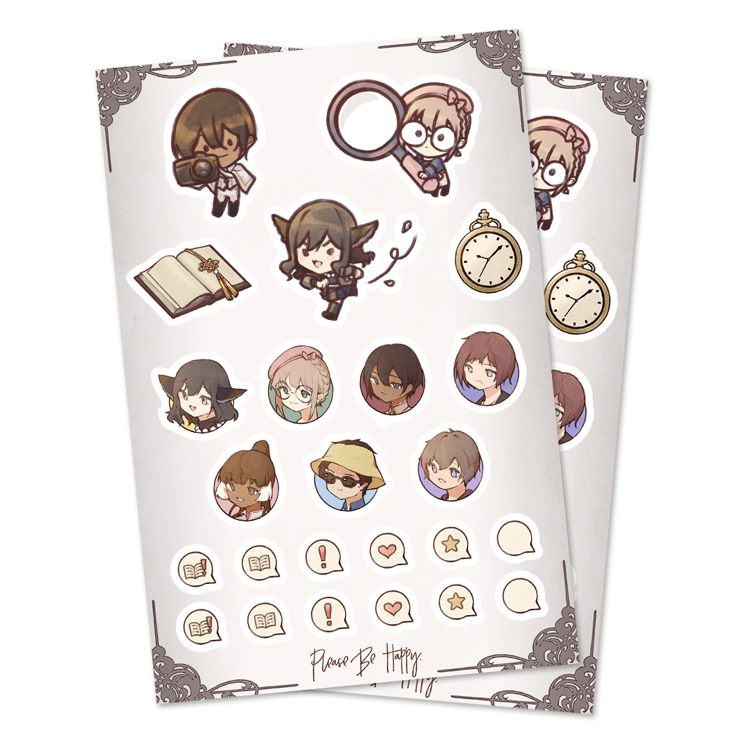 Please Be Happy Kiss Cut Sticker Sheet [PRE-ORDER]