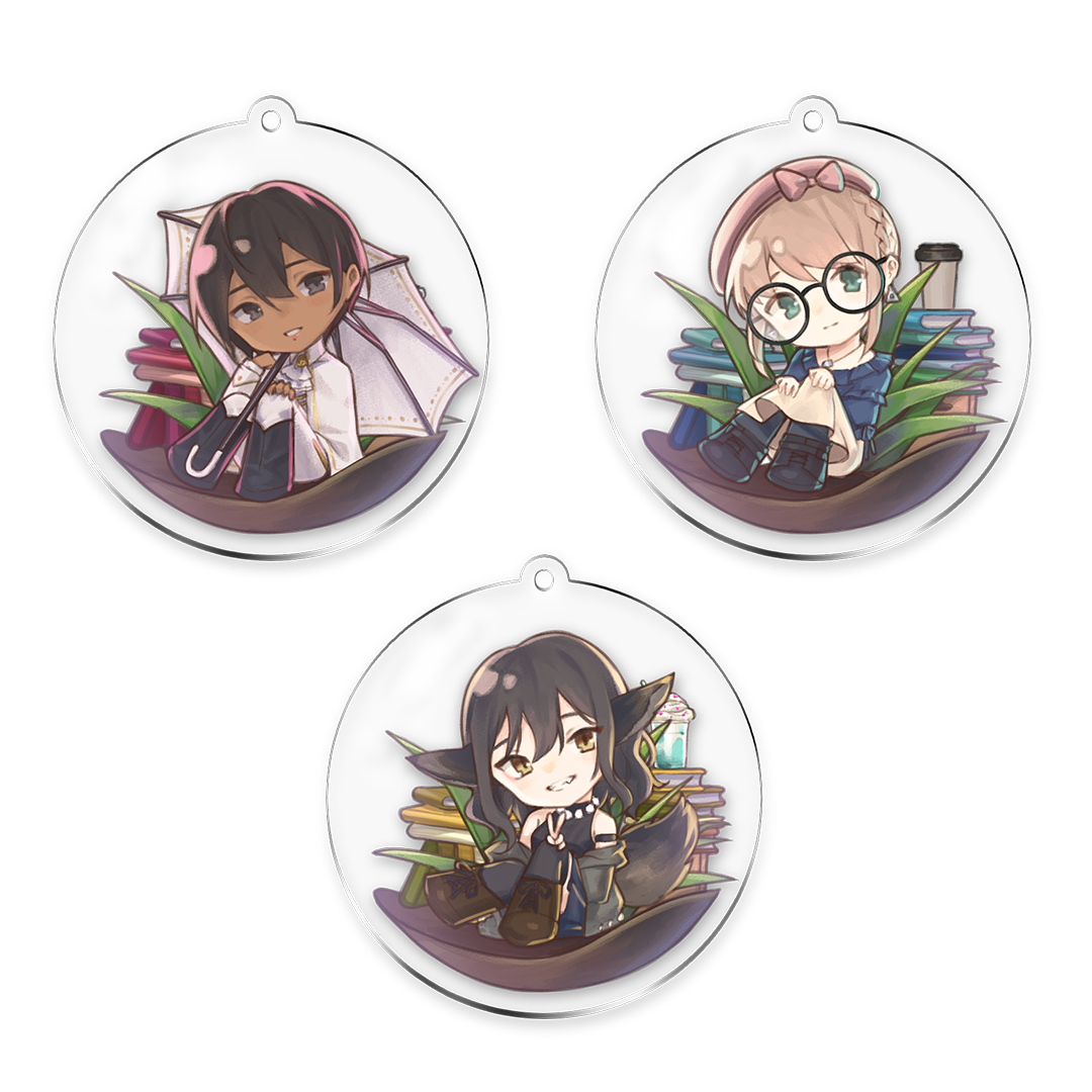 Please Be Happy Double-Sided Keychain [PRE-ORDER]