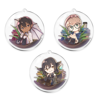 Please Be Happy Double-Sided Keychain