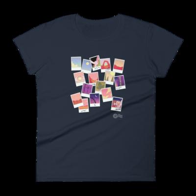 Highway Blossoms Scrapbook Women's Fitted Shirt