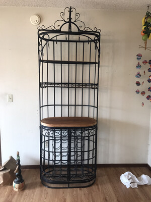 Huge Wrought Iron Bakers Wine Rack