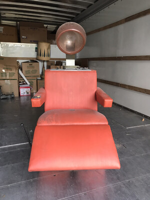 VINTAGE Antique BEAUTY SALON Hair CHAIR RAYETTE DE LITE Model MARK III.