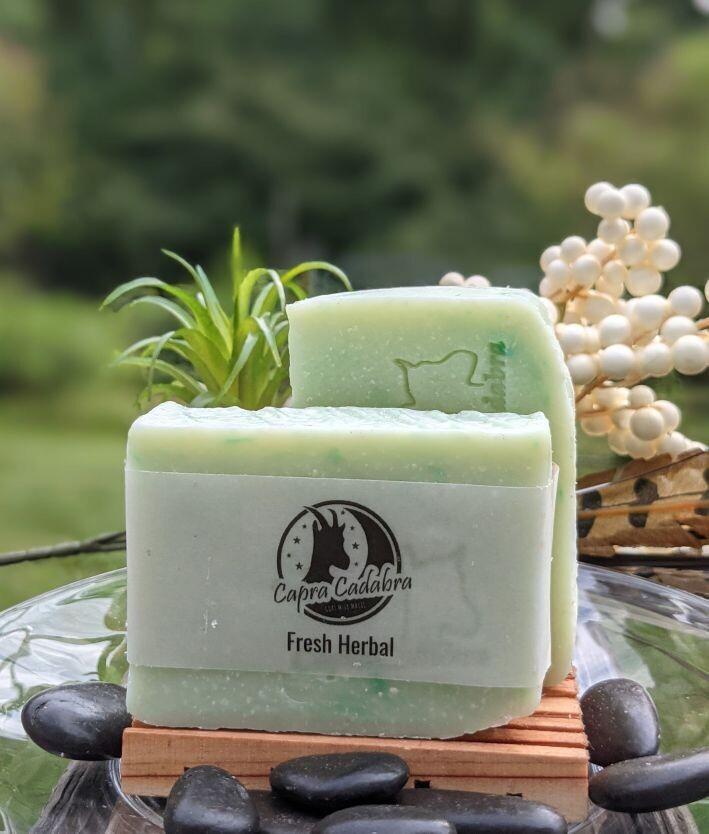 Goat Yogurt Soap: Fresh Herbal