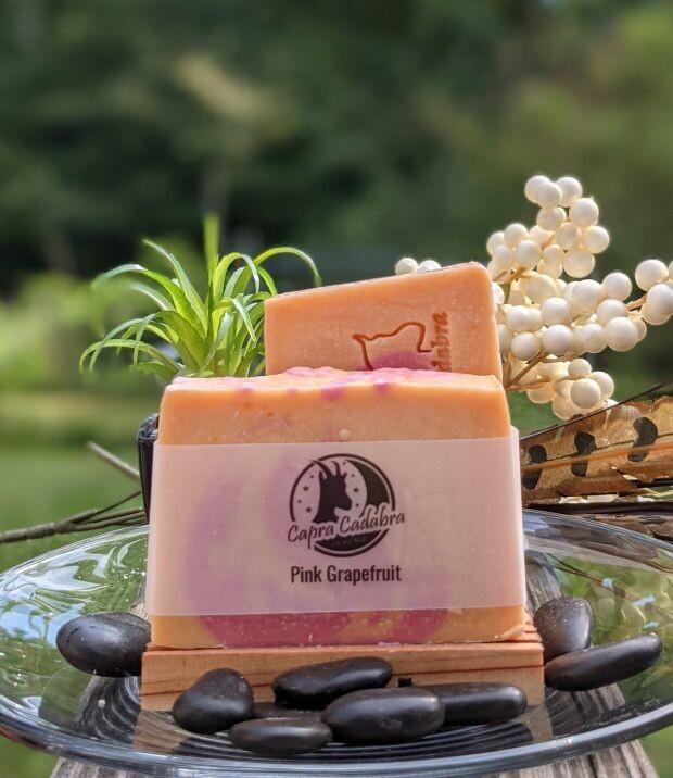 Goat Yogurt Soap: Pink Grapefruit