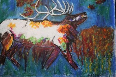 Psychedelic Bull Elk
