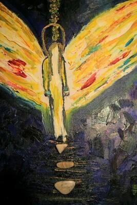 Artic Angel Mixed Media