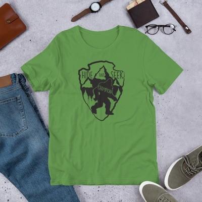 Big Foot Hide & Seek Champion T-shirt