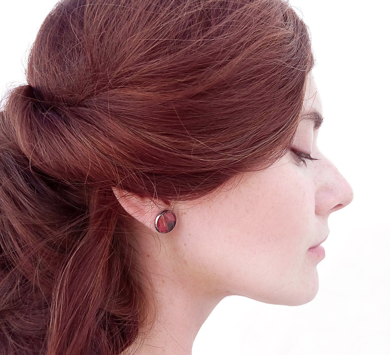 LIONFISH STUD EARRINGS RED
