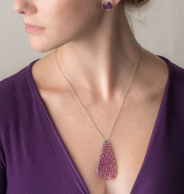 SEAFAN CORAL DROP NECKLACE