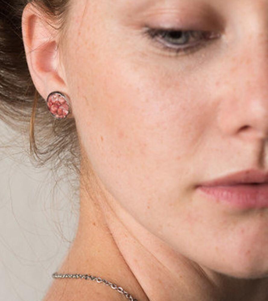 PINK SAND STUD EARRINGS