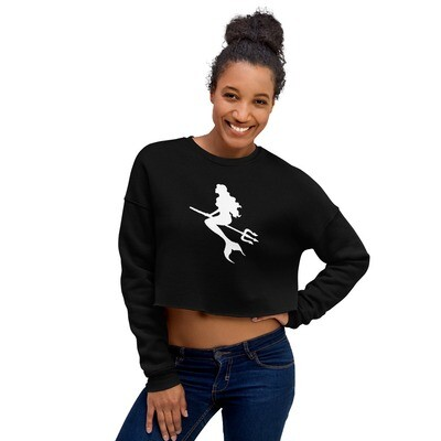 SEA WITCH CROP SWEATER - BLACK / NAVY / GRAY