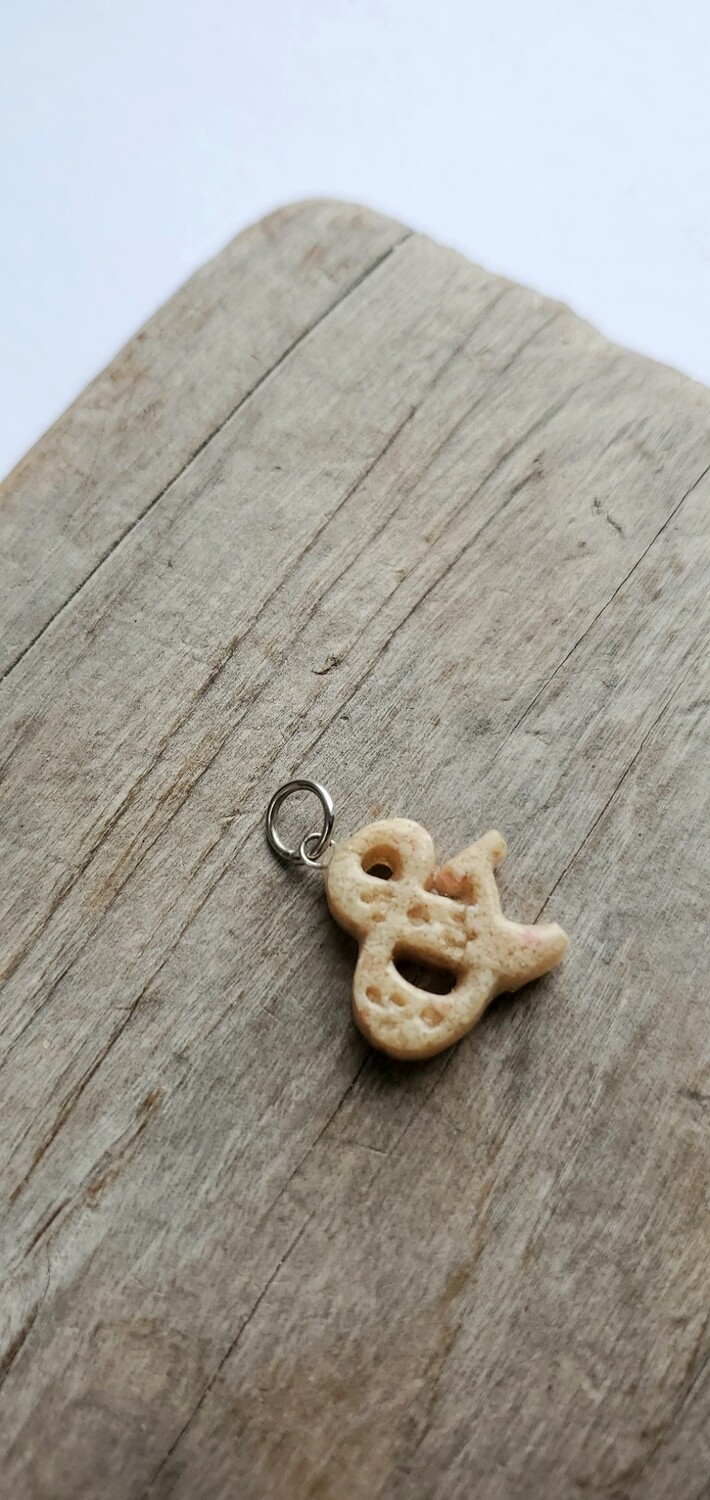 PINK SAND LETTER INITIAL CHARM