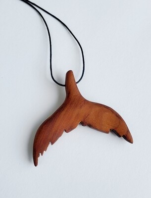 BERMUDA CEDAR HUMPBACK WHALE NECKLACE