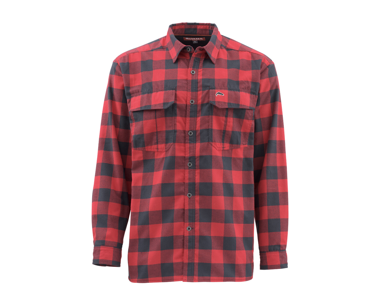 Simms ColdWeather Shirt Red Buffalo Plaid