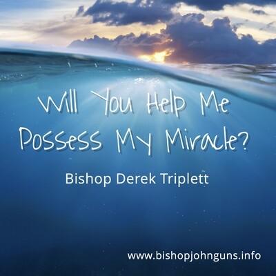 Will You Help Me Possess My Miracle? Bishop Derek Triplett~ MP3 (February 23, 2020)