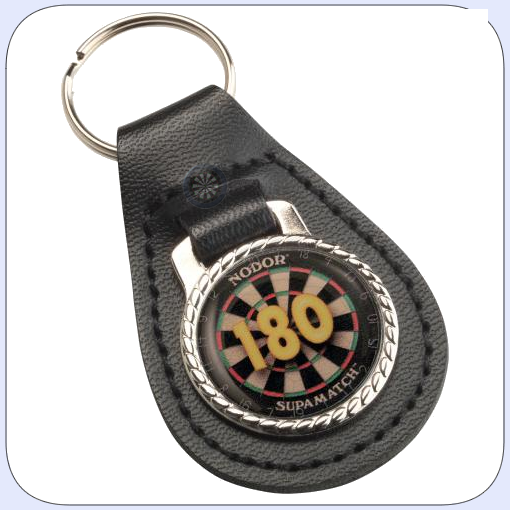 180 Badge Keyring (Leather)