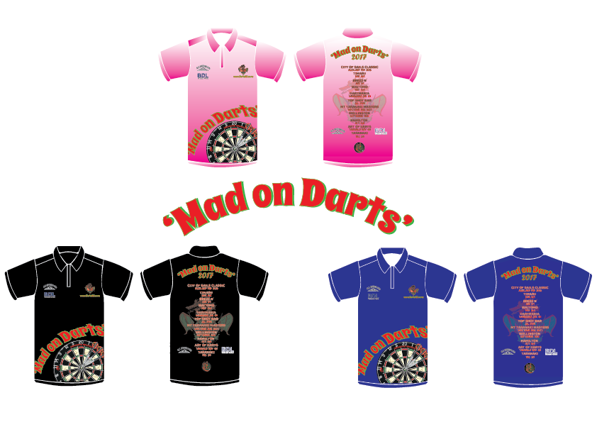 Mad on Darts - 2017 Tour Shirt