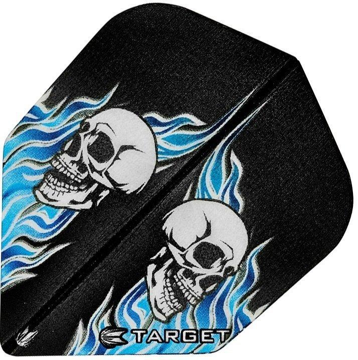 Target Pro Vision Darts Flights - Double Skull Black/Blue