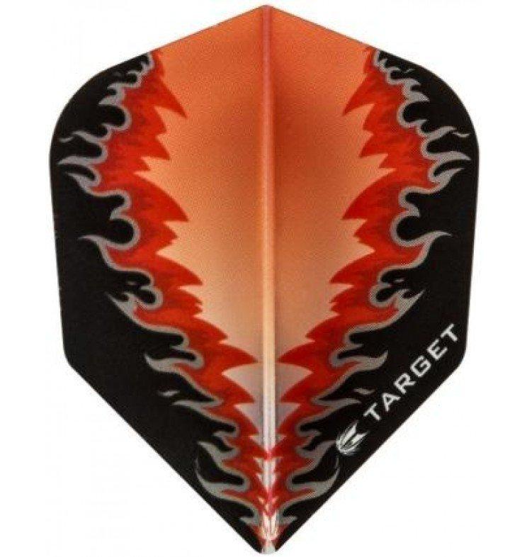 Target Pro Vision Darts Flights - Fire Black/Red