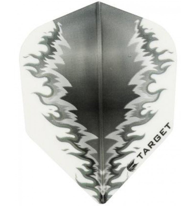 Target Pro Vision Darts Flights - Fire White/Black