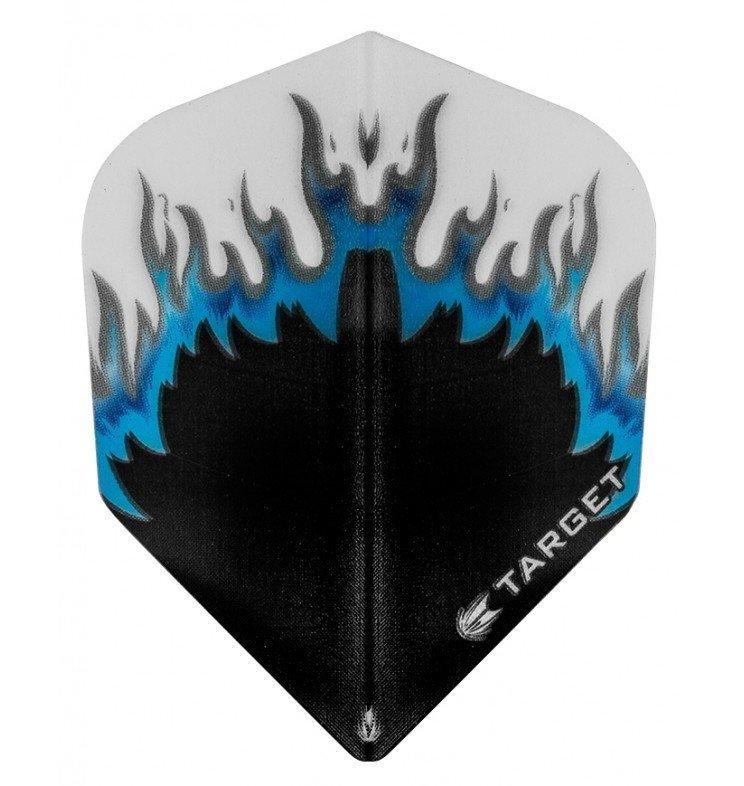 Target Pro Vision Darts Flights - Flame Black/Blue