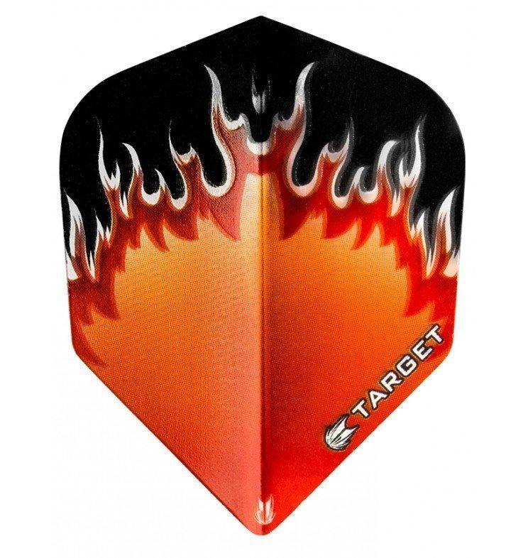 Target Pro Vision Darts Flights - Flame Orange/Red