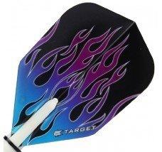 Target Pro Vision Darts Flights - Flames Blue/Purple