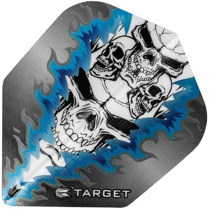 Target Pro Vision Darts Flights - Quad Skull Blue