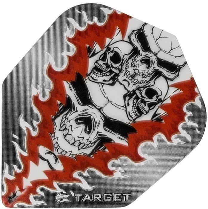 Target Pro Vision Darts Flights - Quad Skull Red