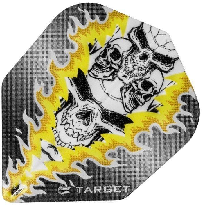 Target Pro Vision Darts Flights - Quad Skull Yellow