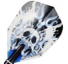 Target Pro Vision Darts Flights - Skull Blue