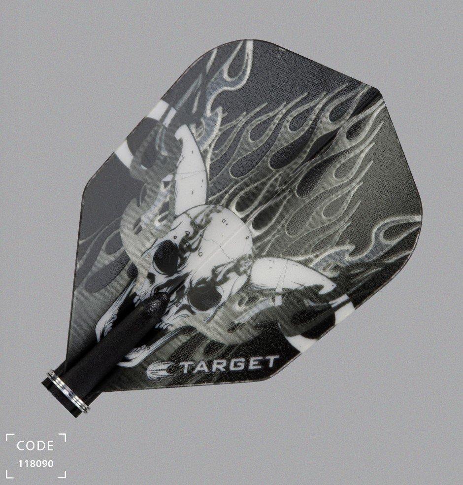 Target Pro Vision Darts Flights - Small Skull/Flames Black