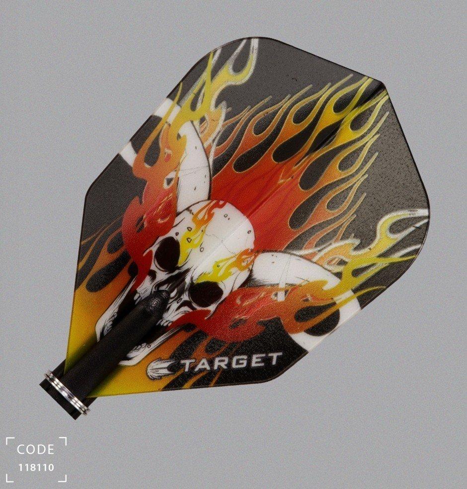 Target Pro Vision Darts Flights - Small Skull/Flames Orange