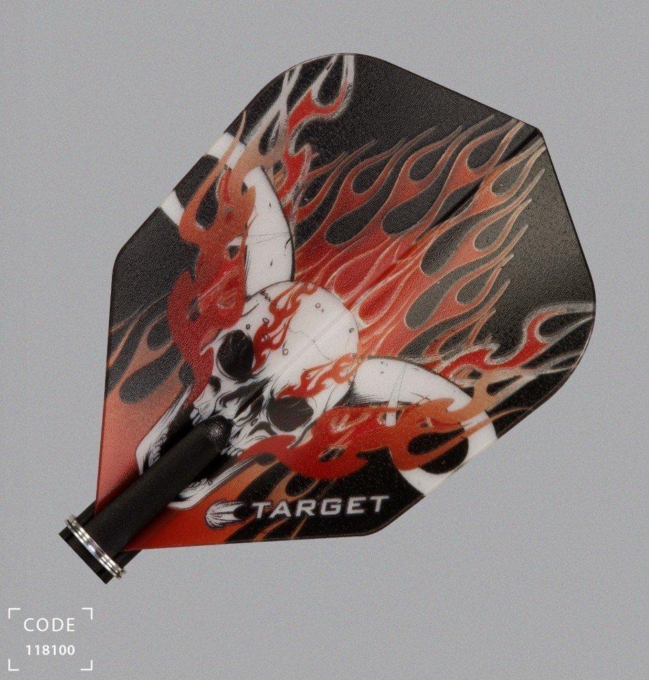Target Pro Vision Darts Flights - Small Skull/Flames Red