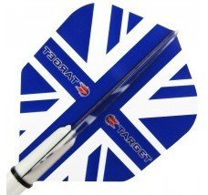 Target Pro Vision Darts Flights - Union Jack Blue
