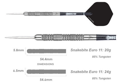 Peter Wright 'Snakebite' Version 11 - 20g or 24g - EURO Element