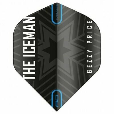Hardcore Gerwyn Price - Black & Grey Snowflake Logo Flights