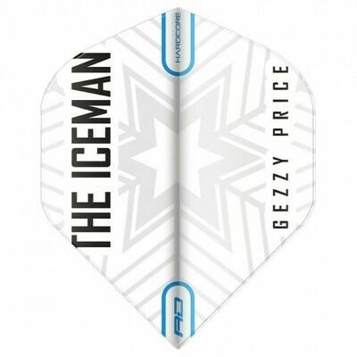 Hardcore Gerwyn Price - White & Grey Snowflake Logo Flights